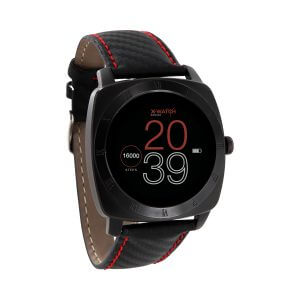X-WATCH | NARA BC | Aktivitätstracker, Fitness Armband mit Pulsmesser, Smartwatch Rund, Top Smartwatches