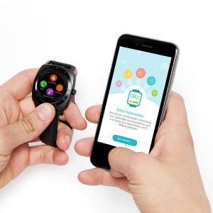 X-WATCH | NARA BC Smartwatch 3 – Fitness Armband mit Pulsmesser – Smartwatch rund