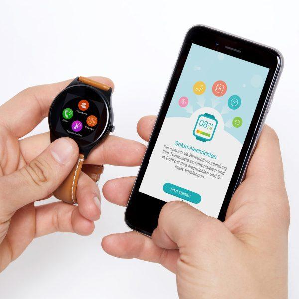 X-WATCH   QIN II Handy Uhr – günstige Smartwatch – Smartwatch Apple