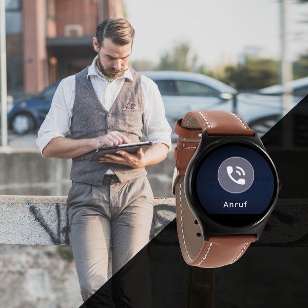 X-WATCH   QIN II Gute Smartwatch - Uhr mit WhatsApp - beste Fitness Uhr