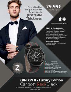 X-WATCH | QIN - Fitnessarmbänder Test - BT Benachrichtigungs App - Smart Uhr
