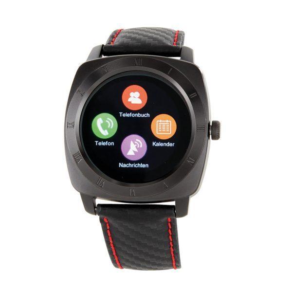 X-WATCH | NARA BC | Aktivitätstracker, Fitness Armband mit Pulsmesser, Smartwatch Rund, Top Smartwatches