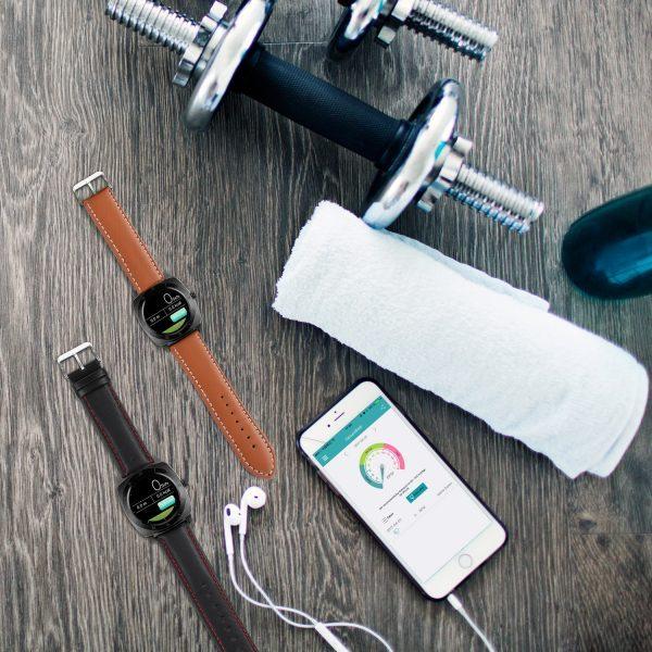 X-WATCH | NARA BC | Smartwatch Apple kompatibel, Günstige Smartwatch, Handy Uhr