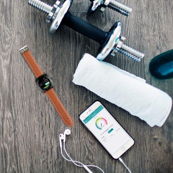 X-WATCH | NARA BC | Smartphone Uhr – Smartwatch mit Pulsmesser - Smartwatch Whatsapp fähig - Top smartwatches