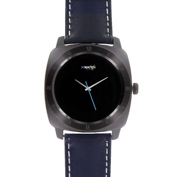 X-WATCH | NARA Black Chrome | Smartwatch Bestenliste – Whatsapp Smartwatch – Smartphone Uhr