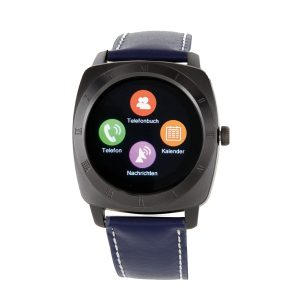 X-WATCH | NARA Black Chrome | Smartphone Uhr - Smartwatch kaufen - Android Smartwatch - iOS Smartwatch