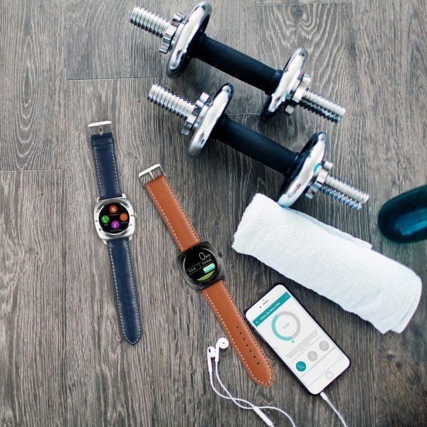 X-WATCH   NARA iOS Smartwatch WhatsApp fähig – Smartwatch Ziffernblatt – gute Smartwatch