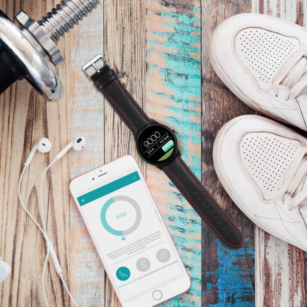 X-WATCH | QIN - Smartwatch 3 - Fitness Armband mit Pulsmesser - iOS Smartwatch