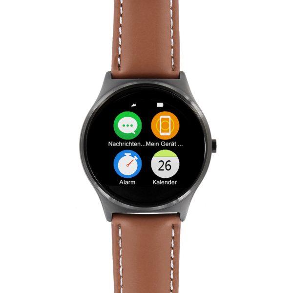 X-WATCH | QIN II Gute Smartwatch - Uhr mit WhatsApp - beste Fitness Uhr
