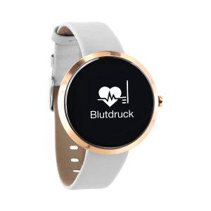 X-WATCH   SIONA Fitness Armband mit Pulsmesser – Sport Smartwatch – Smartwatch rund Damen