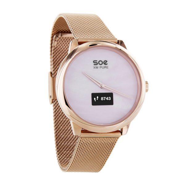 X-WATCH | SOE Smartwatch WhatsApp fähig – Smartwatch Damen Android – Fitnessuhr Test – Fitness Tracker elegant – Smartwatch iOS