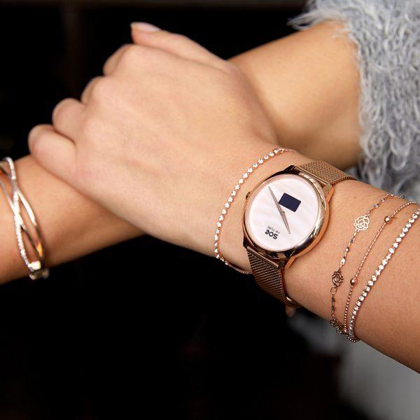X-WATCH | SOE Fitness Tracker elegant – Smart Watch für iPhone - Smartwatch Uhr
