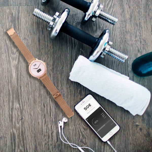 X-WATCH | SOE Smartwatch rund – Fitnessarmbänder Test – WhatsApp Smartwatch