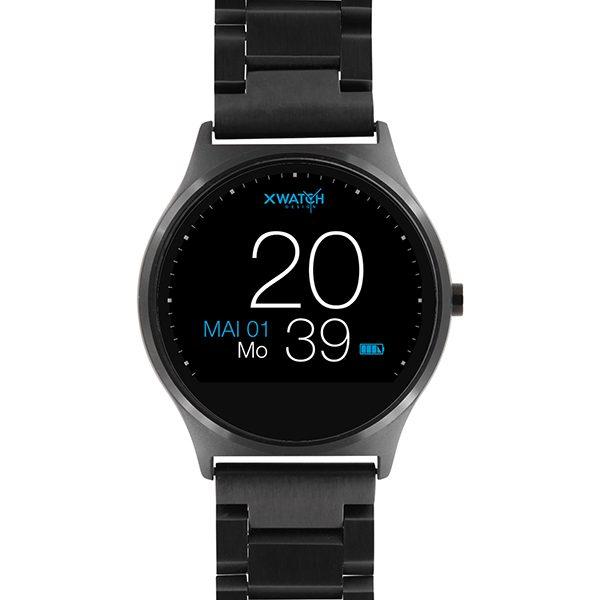 X-WATCH | QIN II Smartwatch rund – Herren Smartwatch – Smartwatch Ziffernblatt