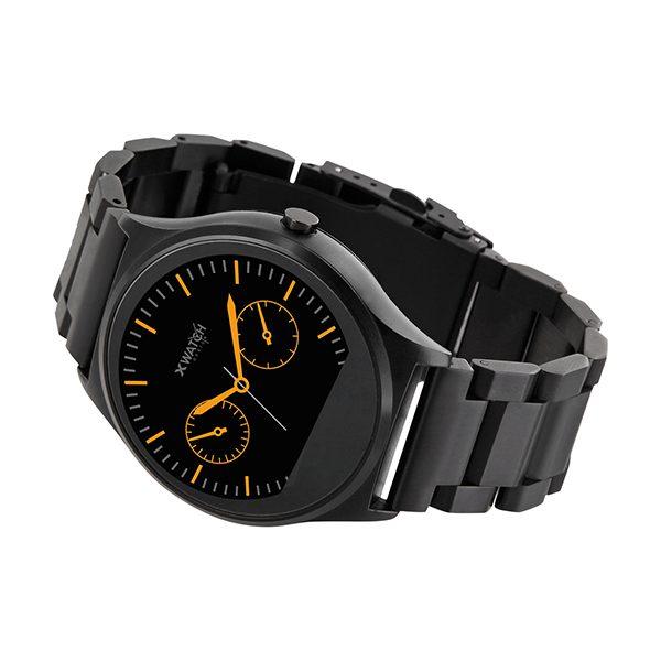 X-WATCH | QIN II Smartwatch mit Pulsmesser – Herren Smartwatch – Edelstahl Smartwatch