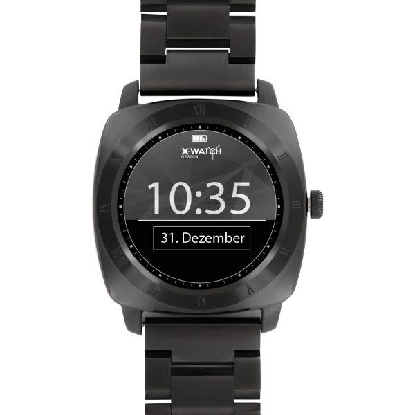 Smartwatch Design X-WATCH Nara Dark steel