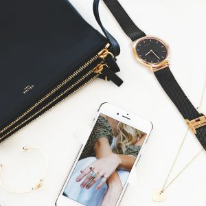 Armbanduhr Damen gold, iphone kompatible smartwatch