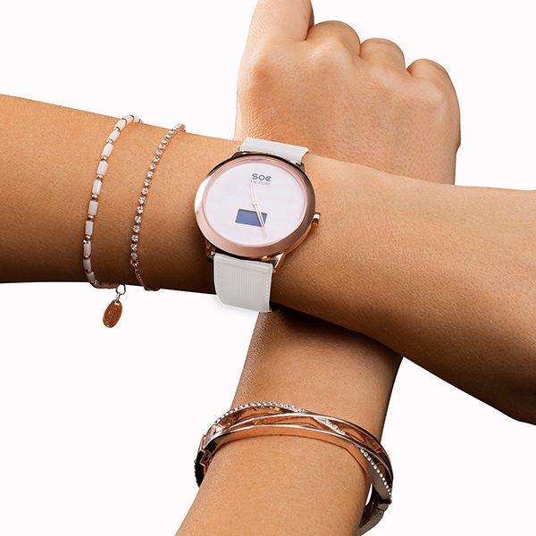 Hybrid Smartwatch elegant - Smartwatch für Frauen