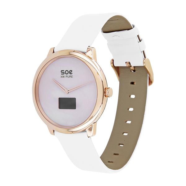x watch soe xw pure smartwatch armbanduhr wei damen x watch smartwatch onlineshop. Black Bedroom Furniture Sets. Home Design Ideas
