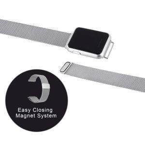 Mash Armband Magnet KET0 SR Shiny Silver